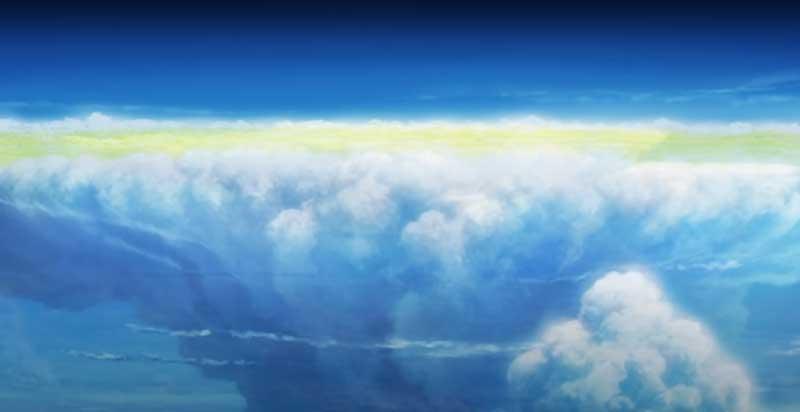 天辺が平らな積乱雲(かなとこ雲)