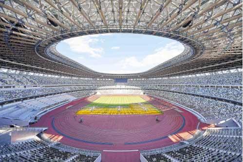 オリンピックスタジアム(新国立競技場)の屋内