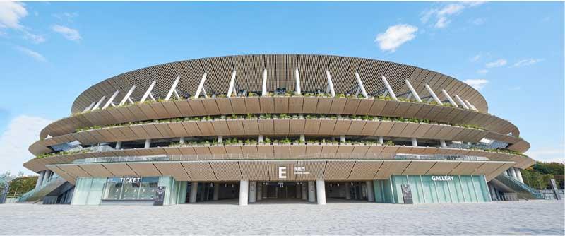 オリンピックスタジアム(新国立競技場)の外観側面
