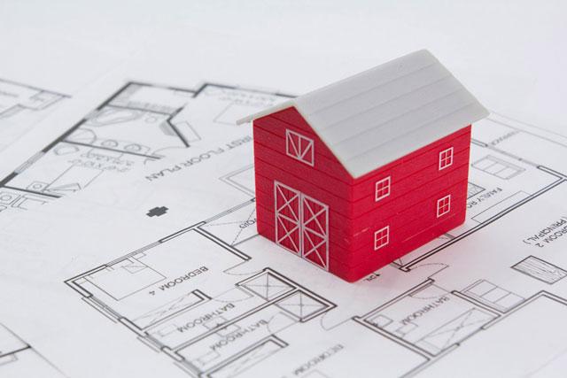 住宅と間取図