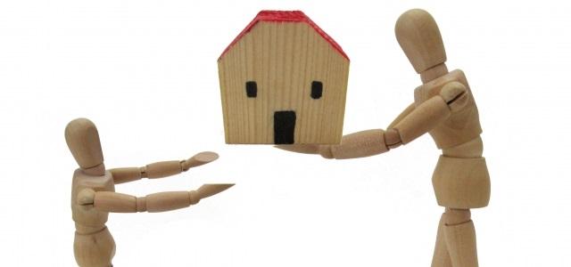 住宅模型の受渡し
