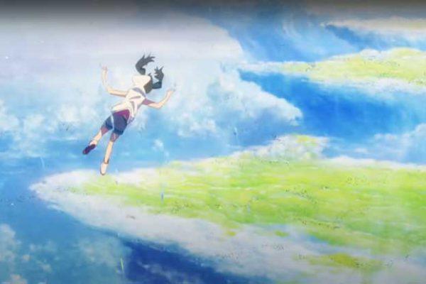 かなとこ雲(積乱雲)の上空を浮遊する天野陽菜