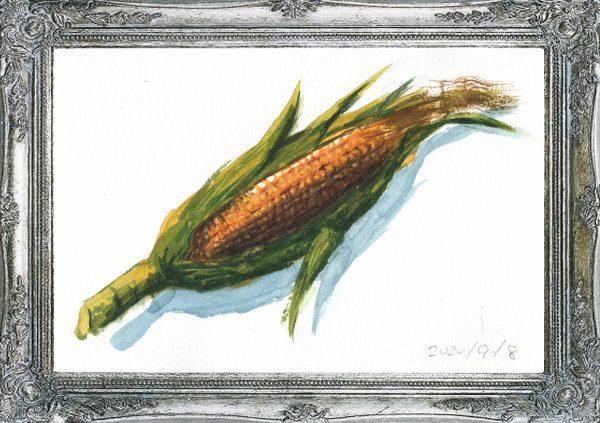 とうもろこし(painted on Sep.8,2020)