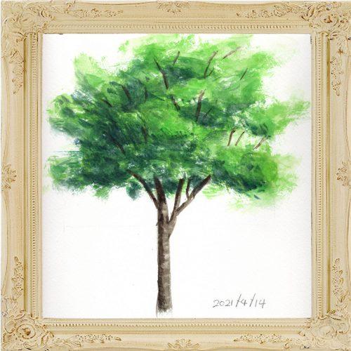 広葉樹①(painted on Apr.14,2021)
