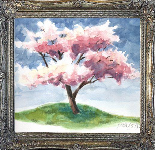 桜の木①(painted on May12,2021)