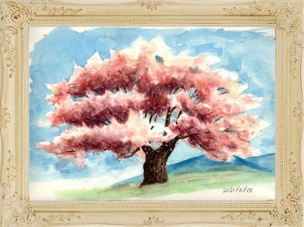 桜の木②(painted on Jun.15,2021)