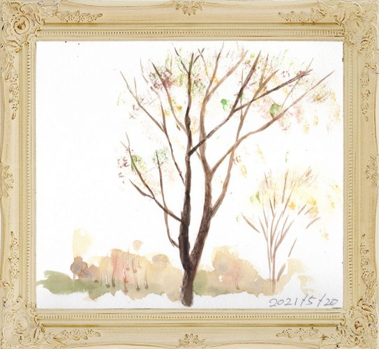 落葉樹②(painted on May20,2021)