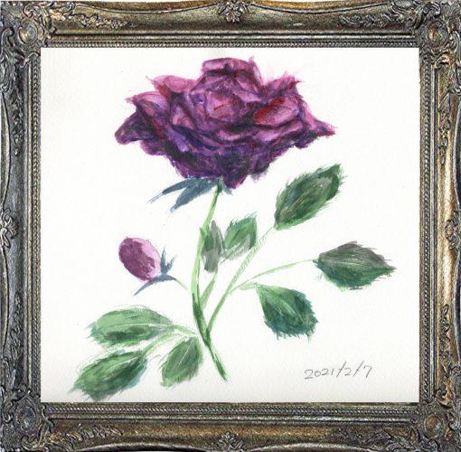 薔薇①(painted on Feb.7,2021)
